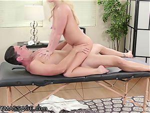 FantasyMassage Bailey Brooke On Top of masseuses rod!