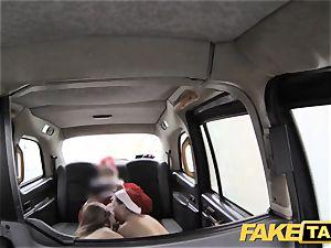 fake cab Xmas theme off the hook santa anal invasion plows two elves