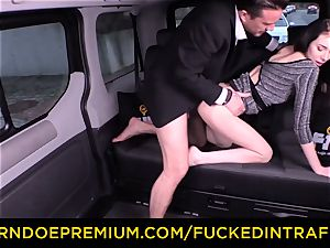 romped IN TRAFFIC - handsome smallish honey fucked by driver