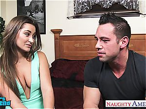 sweetheart Danie Daniels jumps on his humungous man-meat and rides him firm