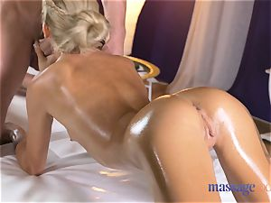 massage rooms sizzling lean ash-blonde gives point of view deep throat