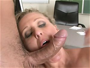 Julia Ann is a xxx cougar who wants to put her cooch on a rock hard weenie