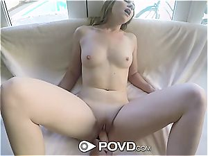 special Cynthia Thomas takes a large dong inside her