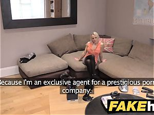 fake Agent UK super-cute super-naughty milf with shaven beaver