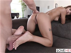 gorgeous Stepsister seduces My man rod With Her feet