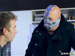 luxurious redhead Ella Hughes smashed by masked guy
