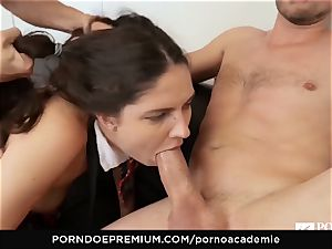 porno ACADEMIE - Francesca Di Caprio ass fucking three-way