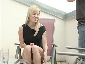 DADDY4K. slutty teen makes enjoy with beau s elderly father behind his back
