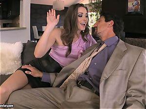 Tori black pleases her man's weenie making it really rock hard to handle