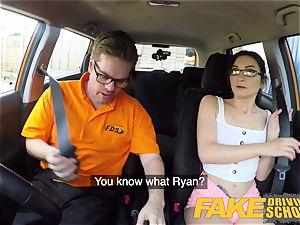 faux Driving school super hot Italian nymphomaniac minx