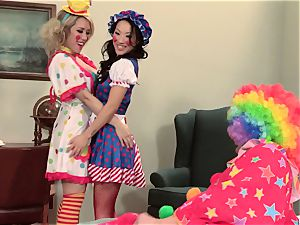 super-fucking-hot spies Asa Akira and Capri Cavanni clowning around