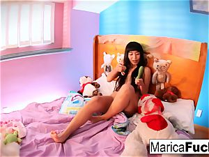 Marica plays with candy man meat