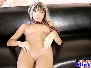 british babe brings herself to ejaculation