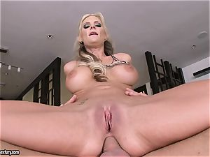 anal invasion paramour Phoenix Marie juggles her ass on a large prick