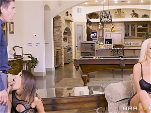 jizzswapping sweethearts Adriana Chechik and Nicolette Shea boinked deep